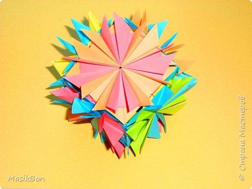 Кусудама куб Простые поделки оригами из бумаги