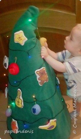 """Здравствуйте, жители """"Страны мастеров"""". С Новым годом вас и с наступающим Рождеством Христовым! Я решила показать сегодня два вида елочек, которые делала к Новому году. фото 3"""