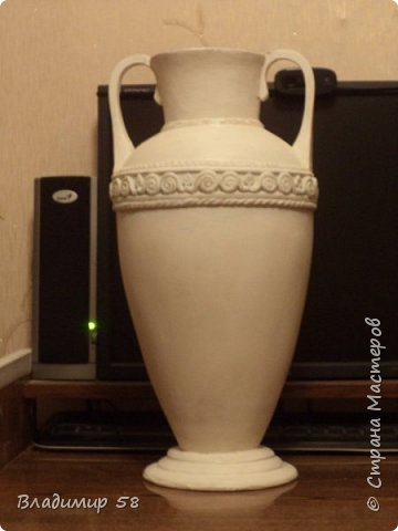 Малахитовая ваза из трех литровой банки. фото 2