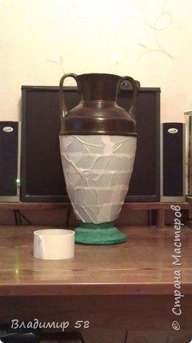 Малахитовая ваза из трех литровой банки. фото 16