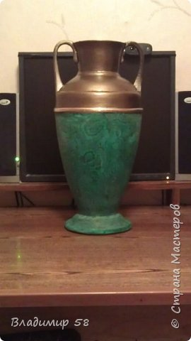 Малахитовая ваза из трех литровой банки. фото 17