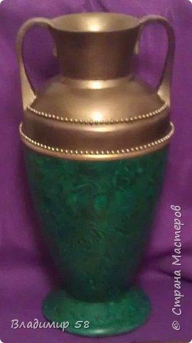 Малахитовая ваза из трех литровой банки. фото 19