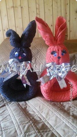 Всем привет!  На этот раз вот такие зайцы из полотенец .