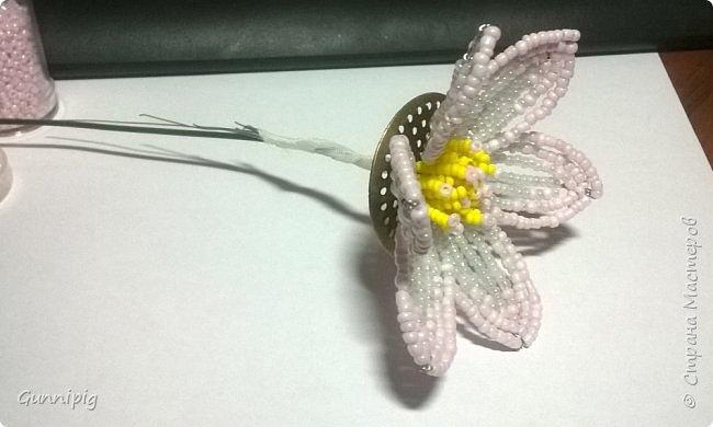 Представляю Вашему вниманию мастер-класс по плетению цветка лотоса из бисера. фото 15