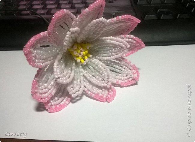 Представляю Вашему вниманию мастер-класс по плетению цветка лотоса из бисера. фото 22