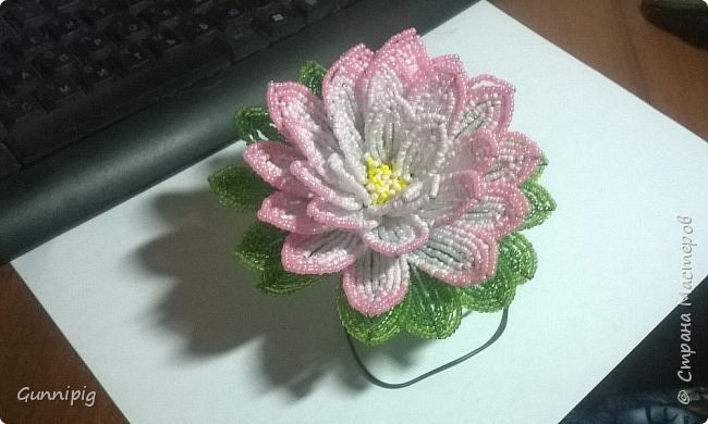 Представляю Вашему вниманию мастер-класс по плетению цветка лотоса из бисера. фото 36