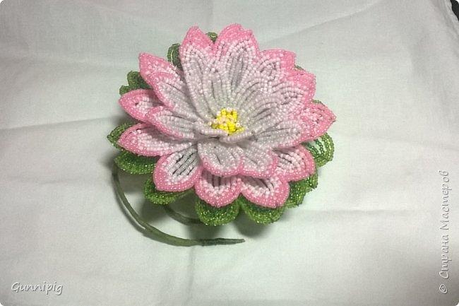 Представляю Вашему вниманию мастер-класс по плетению цветка лотоса из бисера. фото 44