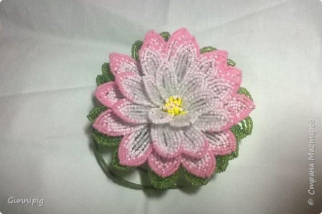 Представляю Вашему вниманию мастер-класс по плетению цветка лотоса из бисера. фото 45