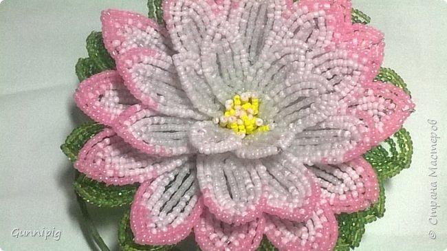 Представляю Вашему вниманию мастер-класс по плетению цветка лотоса из бисера. фото 46