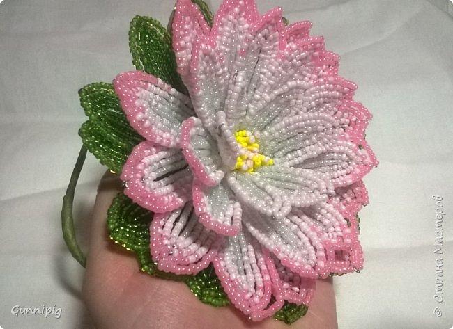 Представляю Вашему вниманию мастер-класс по плетению цветка лотоса из бисера. фото 47