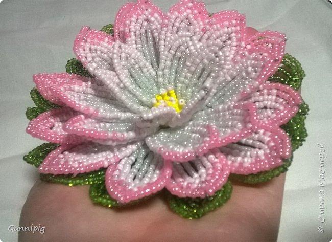 Представляю Вашему вниманию мастер-класс по плетению цветка лотоса из бисера. фото 48