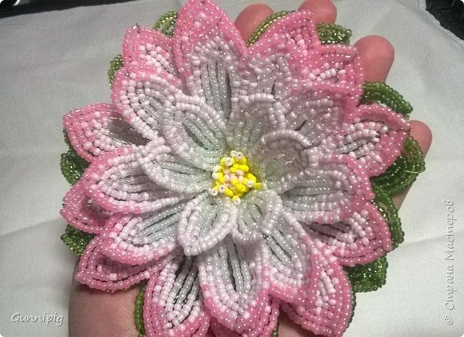 Представляю Вашему вниманию мастер-класс по плетению цветка лотоса из бисера. фото 50