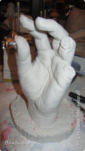 """Как говорил незабвенный пан Зюзя: """"Добрейший вам всем вечерочек!"""". Для работы """"Дудочник"""" буду делать руки. Материалы; Альгинат, гипс или алебастр, герметик, картон, папье-маше. фото 13"""