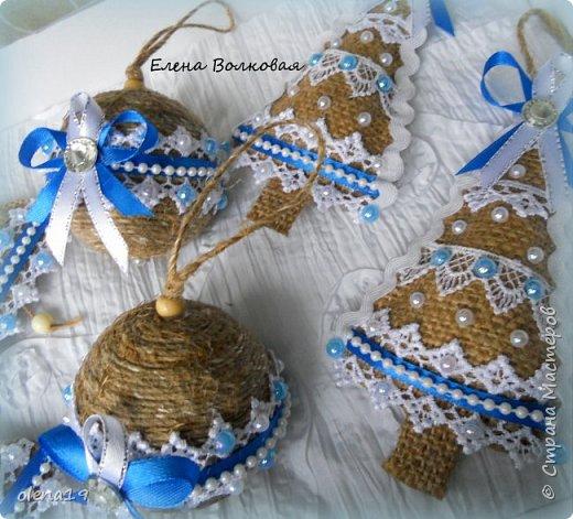 Добрый день! Набор игрушек в сине-белой гамме. фото 5