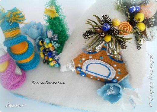 Добрый день! Набор игрушек в сине-белой гамме. фото 12