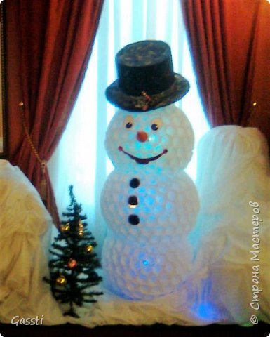 Давно хотелось сотворить... и вот что получилось!  Как украшение интерьера - новогоднее чудо (на фото не видно, внутри - гирлянда) и ,конечно, радость деткам!!! фото 2