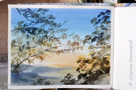 Простой способ рисования листвы деревьев акварелью.