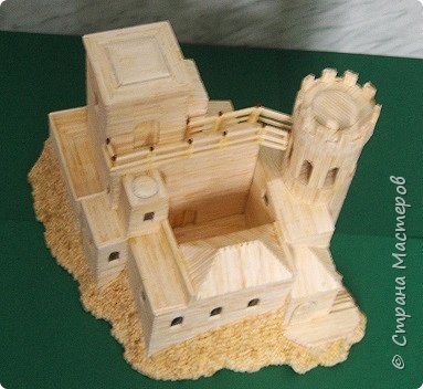 Башня Пеполи (Pepoli) г. Эриче, о. Сицилия, Италия. Размер 25х27х22 см. фото 4