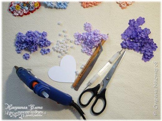 Цветочное сердце - декор для скрапбукинга. фото 2