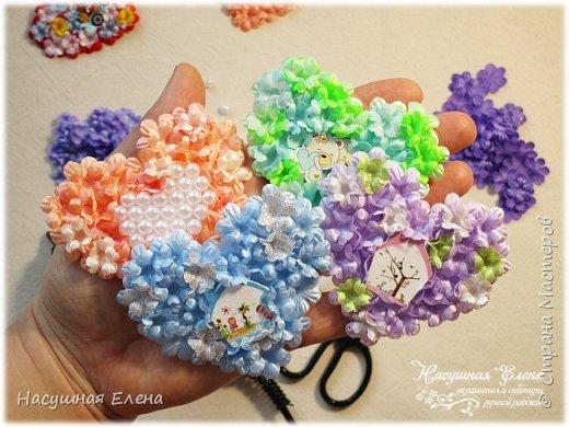 Цветочное сердце - декор для скрапбукинга. фото 10