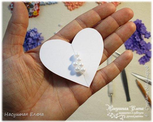 Цветочное сердце - декор для скрапбукинга. фото 3