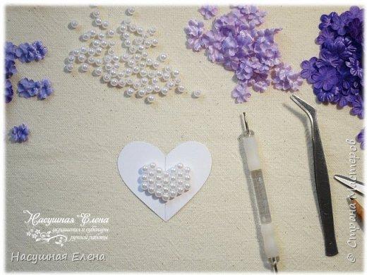 Цветочное сердце - декор для скрапбукинга. фото 4