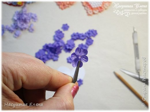 Цветочное сердце - декор для скрапбукинга. фото 5