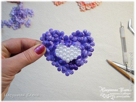 Цветочное сердце - декор для скрапбукинга. фото 8