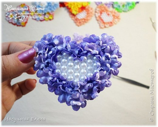 Цветочное сердце - декор для скрапбукинга. фото 9