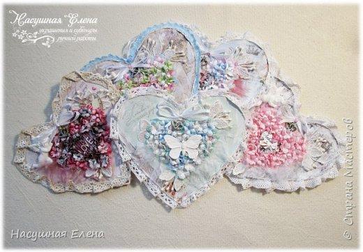 Цветочное сердце - декор для скрапбукинга. фото 11