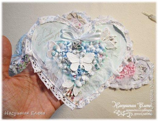 Цветочное сердце - декор для скрапбукинга. фото 12