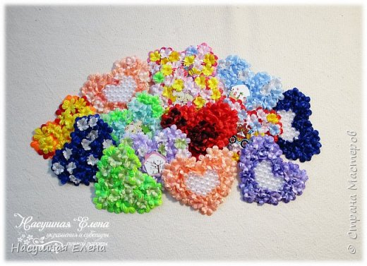 Цветочное сердце - декор для скрапбукинга. фото 1