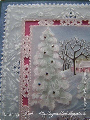 Открытка  технике Пергамано – Радости Рождества фото 2