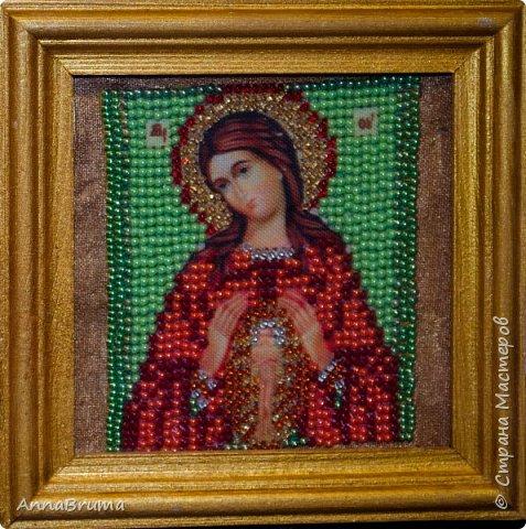 Святая Мария Магдалена  вышита в подарок жене брата фото 7