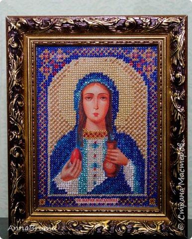 Святая Мария Магдалена  вышита в подарок жене брата