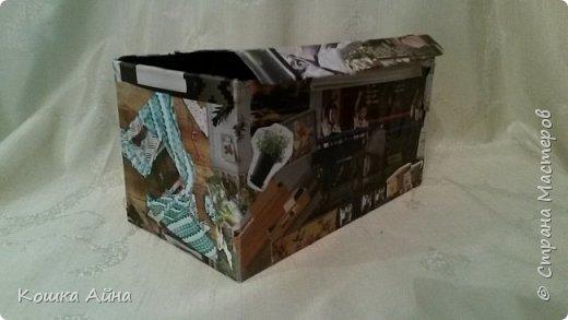 """Всем доброго времени суток. На идею создания этой шкатулки натолкнула меня книга """"Рисовый штурм"""" - одно из заданий там - сделать некую """"шкатулку впечатлений"""" куда можно складывать все-все-все, что способно раскрутить воображение и вызвать интересные ассоциации. Естественно, коробочка для такого дела должна быть тоже необычной и уникальной. А дома как раз завалялась почтовая коробка от недавно пришедшей посылки с Алиэкспресса и ненужный каталог Икея. фото 6"""