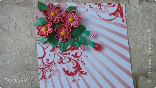 Сегодня хочу показать вам небольшую цветочную композицию, которую создала просто так, в период передышки между праздниками...Цветочки делала по МК Натальи К :http://stranamasterov.ru/node/437388?c=favorite  фото 6