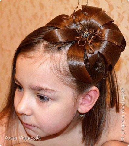 Украшения из волос(постиж) фото 11