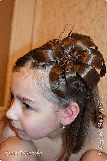 Украшения из волос(постиж) фото 10