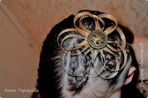 Украшения из волос(постиж) фото 8