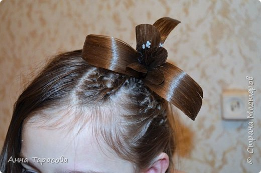 Украшения из волос(постиж) фото 9