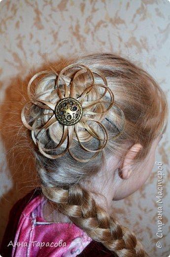 Украшения из волос(постиж) фото 7