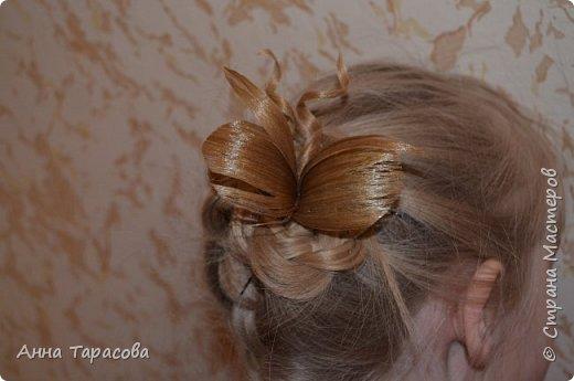 Украшения из волос(постиж) фото 5