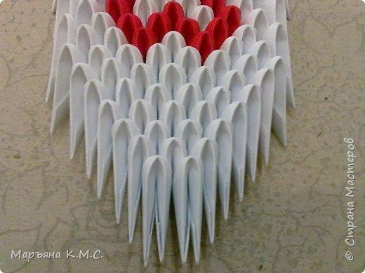Создала вот такого сердечного лебедя.  Скоро День влюблённых. Может, кому-то пригодится. Авторская работа. фото 43