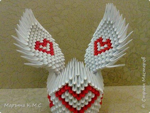 Создала вот такого сердечного лебедя.  Скоро День влюблённых. Может, кому-то пригодится. Авторская работа. фото 47