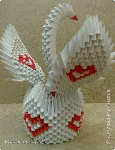 Создала вот такого сердечного лебедя. Скоро День влюблённых. Может, кому-то пригодится. фото 51
