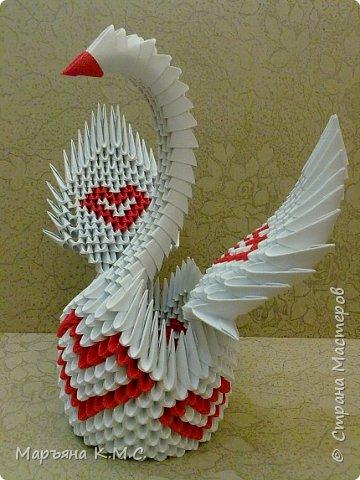 Создала вот такого сердечного лебедя.  Скоро День влюблённых. Может, кому-то пригодится. Авторская работа. фото 54