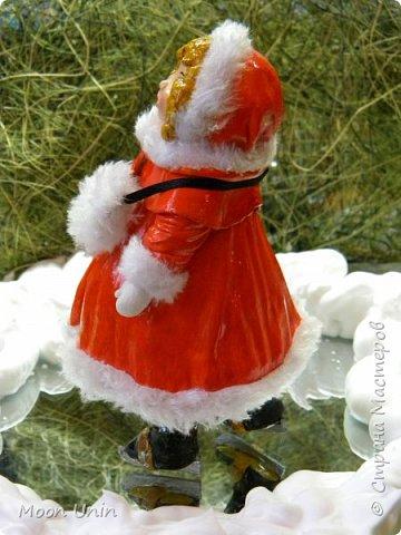Всем привет! Продолжаю новогодне-зимнюю тему. Сегодня хочу показать вам девочку на коньках, немного винтажную;) фото 14
