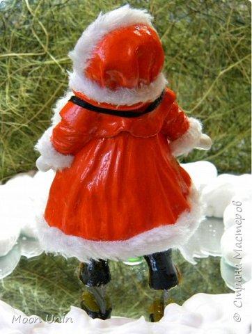 Всем привет! Продолжаю новогодне-зимнюю тему. Сегодня хочу показать вам девочку на коньках, немного винтажную;) фото 15