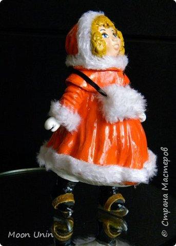 Всем привет! Продолжаю новогодне-зимнюю тему. Сегодня хочу показать вам девочку на коньках, немного винтажную;) фото 21